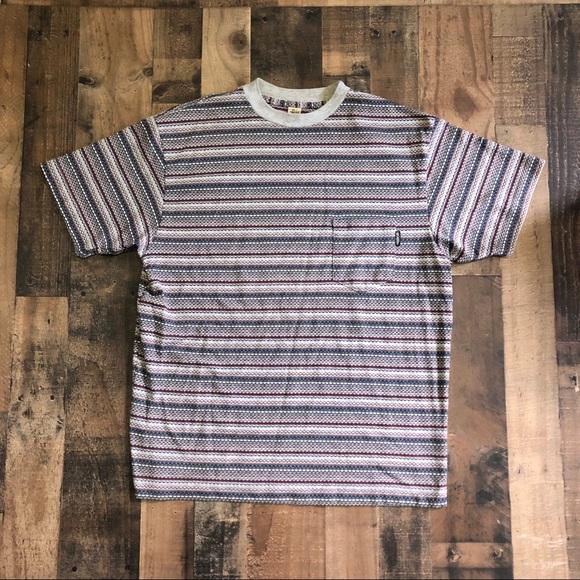 Vintage Stussy Tribe Stripe T Shirt